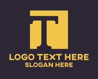 Golden Letter T Logo