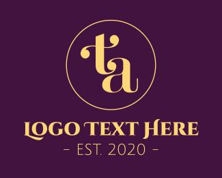 At - Luxurious Elegant Monogram T & A logo design