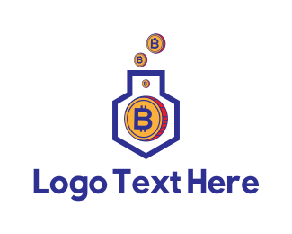 Coin - Bitcoin House logo design