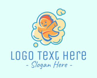 Baby Clothes - Cloud Baby logo design