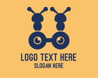 Glasses - Blue Ant Glasses logo design