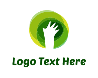 Eco White Hand Logo