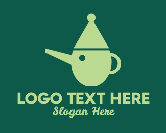 Tea House - Teapot Pinocchio logo design