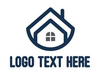 Realtor - Blue Bowl House logo design