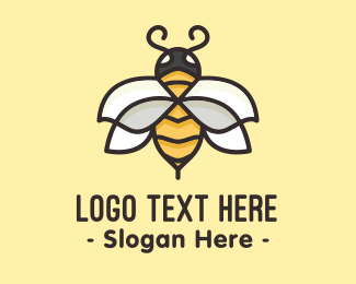 Yellow - Yellow Honey Bee  logo design
