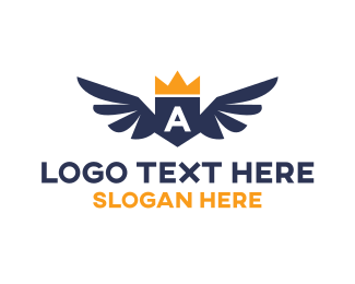 Sovereign - Crown Wings logo design