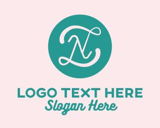 Pastry Chef - Elegant Cursive Letter N logo design