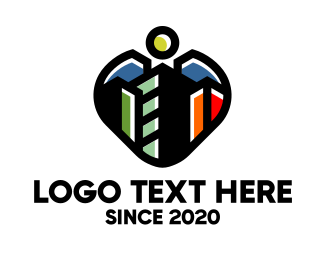 Contractor - Heart City Contractor logo design