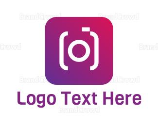 Camera App - Gradient Photo App logo design