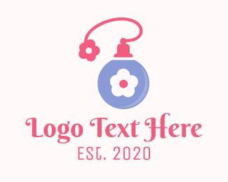 Lotion - Flower Fragrance Perfume logo design