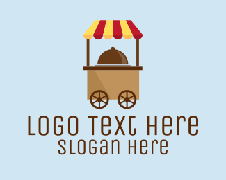 Street Food - Simple Food Cart logo design