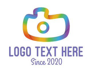 Image - Colorful Gradient Camera logo design