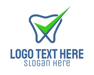 Oral Health - Tooth Dental Check  logo design