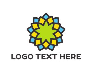 Blossom - Colorful Flower logo design