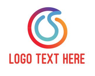 Wire - Colorful Line logo design