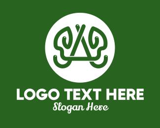 Vegan Food - Letter A Vine Lettermark logo design