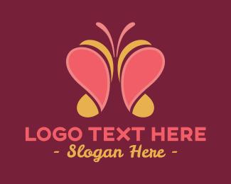 Elegant Wellness Butterfly  Logo Maker