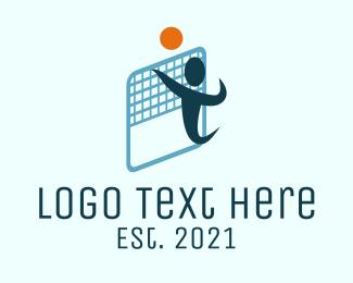 Sports - Beach Volleyball logo design