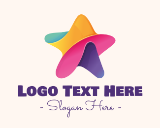 Superstar - Colorful Entertainment Star logo design