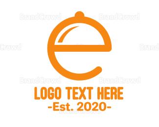 Tray - E Tray logo design