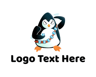 Soldier - Penguin Soldier logo design