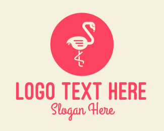 Social Media - Red Flamingo Chat logo design