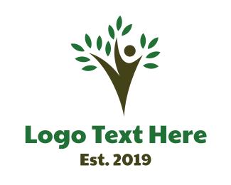 Ballet - Agile Tree Person logo design