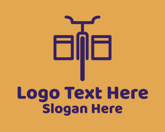 Courier - Bike Courier Delivery logo design