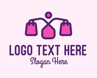 Trendy - Pink Women Fashion Shopping logo design