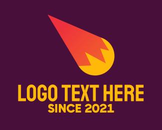 Fireball - Meteor Comet  logo design