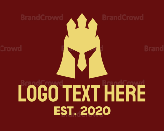 Fiction - Helmet Crown Gaming logo design