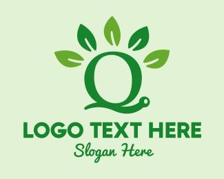 Snail Letter Q Logo