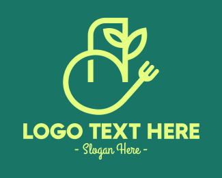 Food App - Vegan Food App logo design