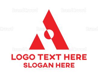 Austrian - Red Geometric A Shape  logo design