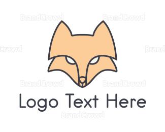 Pictorial - Fox Face logo design