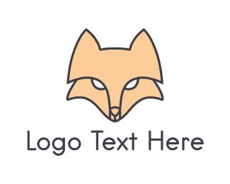 Line Art - Fox Face logo design