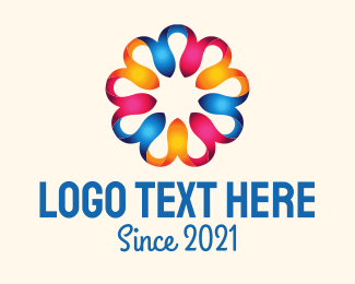 Ornamental - Colorful Round Flower logo design