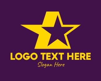 Actor - Yellow Celebrity Star logo design
