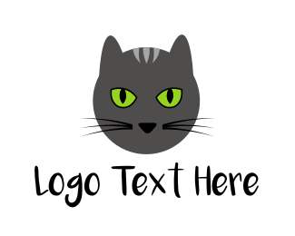 Monochrome - Grey Cat logo design