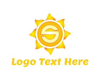 Shade Of Yellow - Sun Letter S logo design