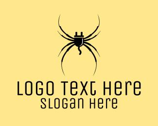 Spider - Plug Spider logo design