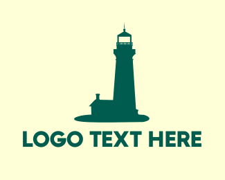Lighthouse - Green Lighthouse logo design
