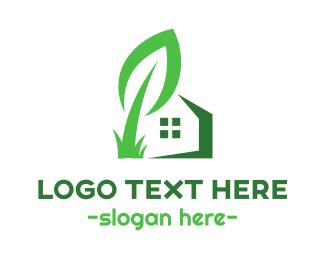 Shelter - Giant Leaf House logo design