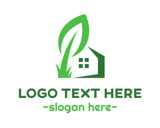 Foundation - Giant Leaf House logo design