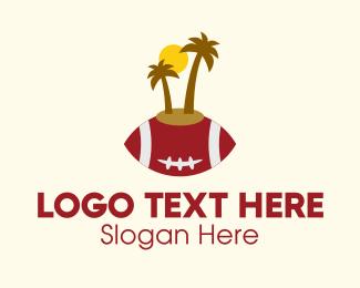Sports Bar - Gridiron American Football Island  logo design