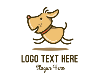 Pet Groomer - Happy Leaping Dog logo design