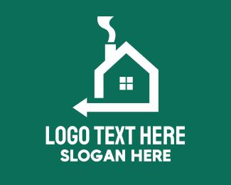 Home Property - Home Property Realtor Arrow logo design