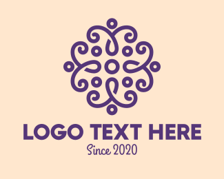 Violet - Beauty Violet Flower logo design