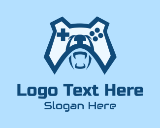 Ps5 - Bear Game Controller  logo design