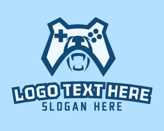 Grizzly - Bear Game Controller logo design